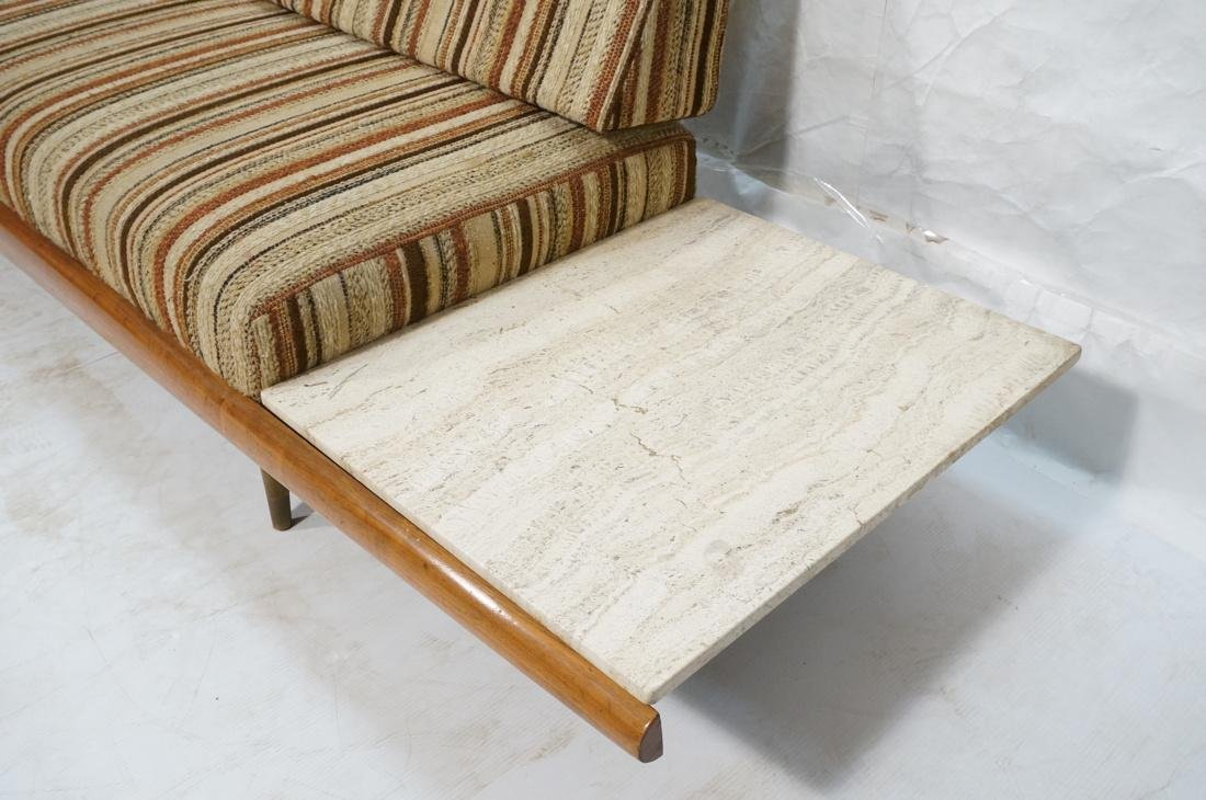 ADRIAN PEARSALL Walnut 516 Sofa Couch with travertine - 4