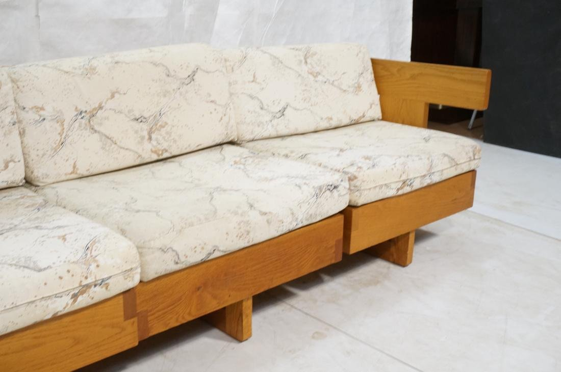 3 Part Oak Sectional Seating JEAN ROYERE Style. 2 - 3