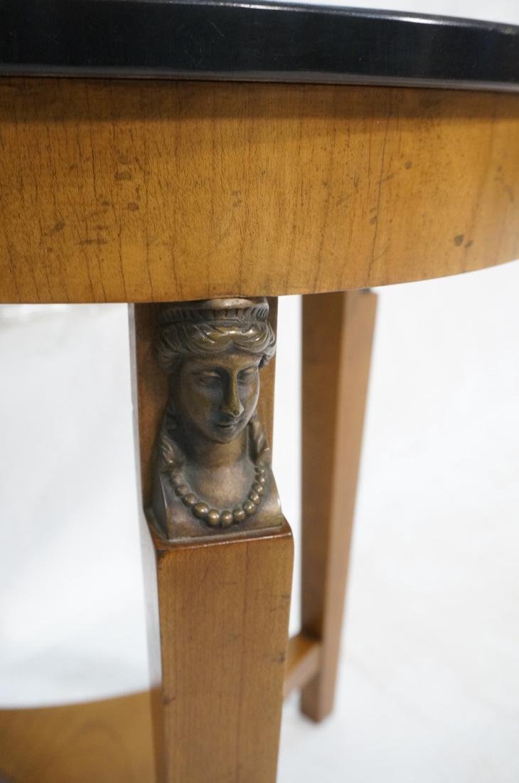 Pr BAKER Tripod Decorator Side Tables. Round blac - 3
