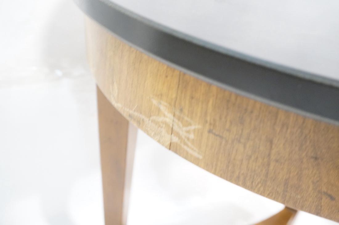 Pr BAKER Tripod Decorator Side Tables. Round blac - 8