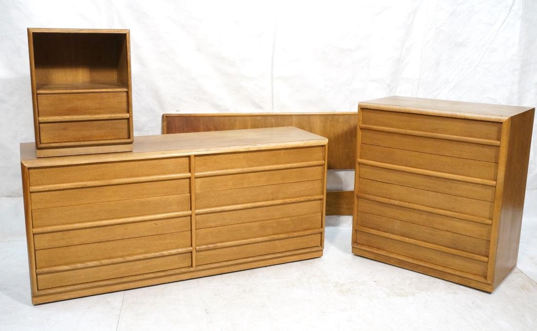 4 pc ROBSJOHN GIBBINGS for WIDDICOMB Bedroom Set.