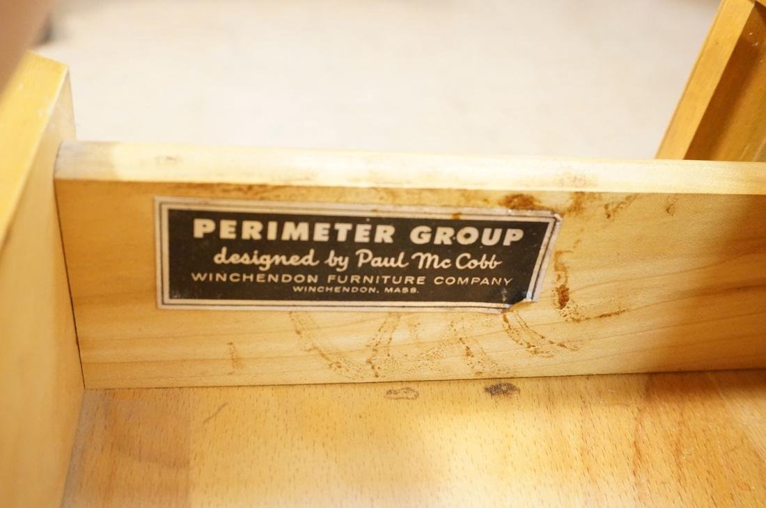 PAUL McCOBB Maple Cabinet Credenza. 3 slim drawer - 3