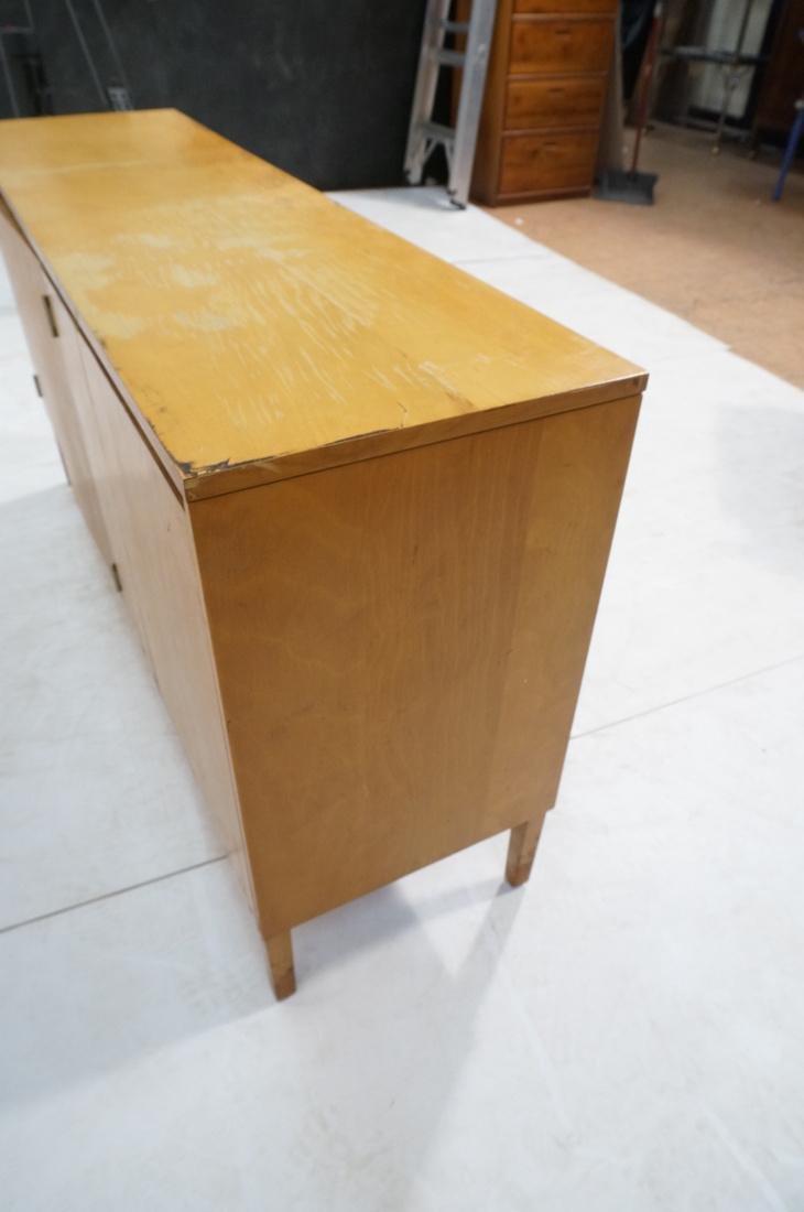 PAUL McCOBB Maple Cabinet Credenza. 3 slim drawer - 9
