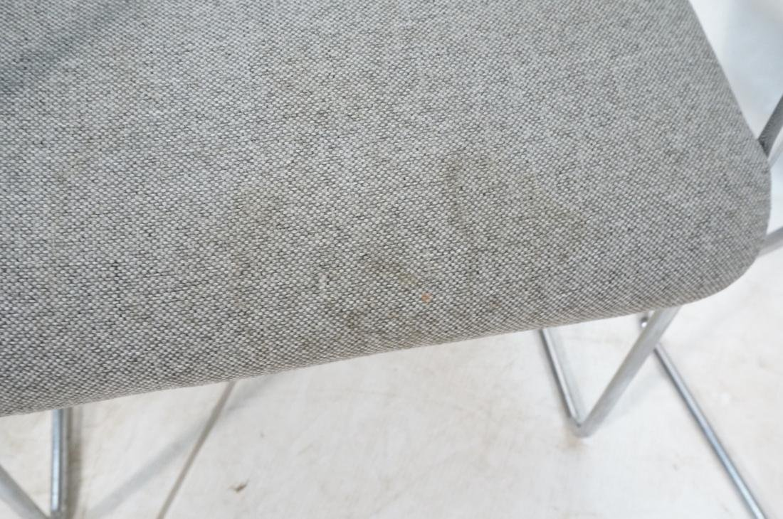 Set of 4 Chrome Tube Side Arm Chairs. Gray tweed - 6