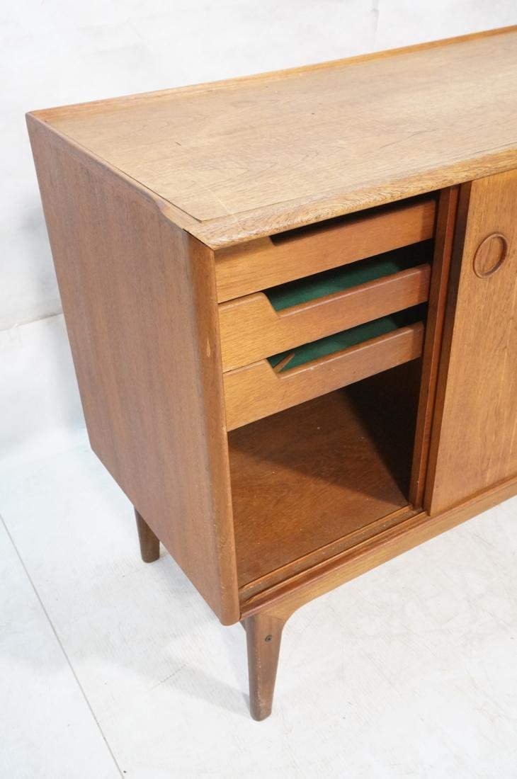 Danish Modern Teak Credenza Sideboard. Raised lip - 3
