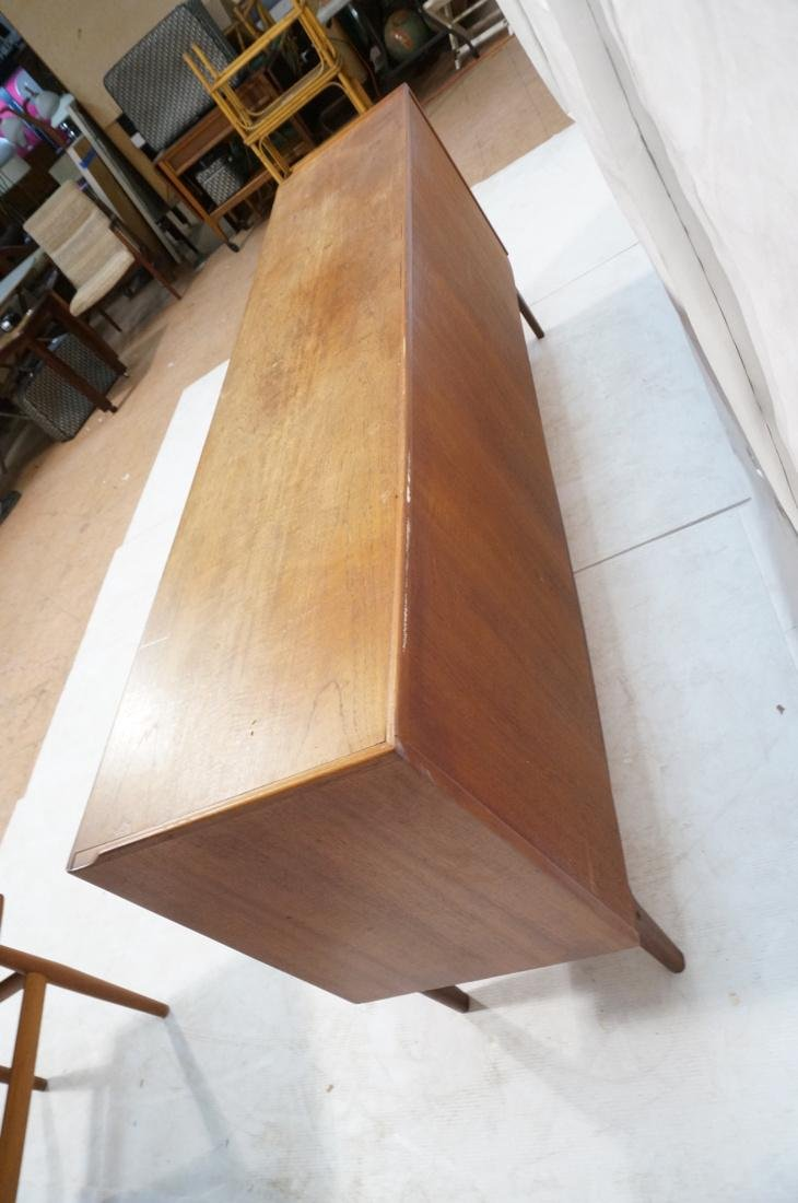 Danish Modern Teak Credenza Sideboard. Raised lip - 7