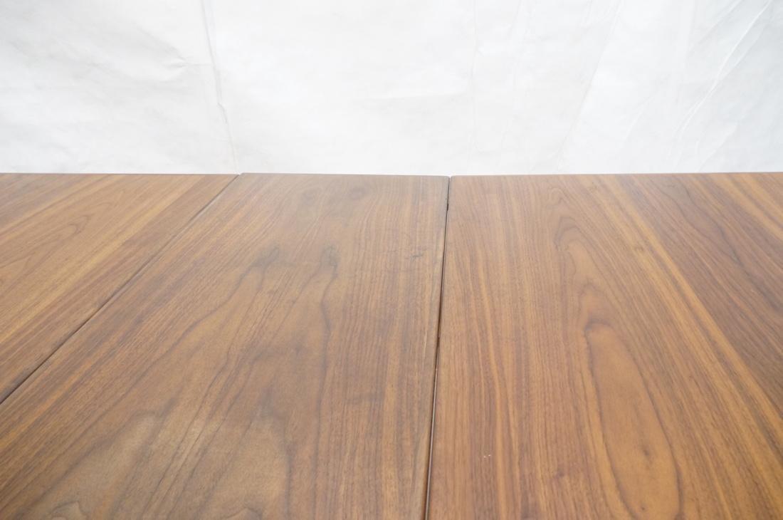 American Modern Walnut Drop Side Dining Table. Th - 10