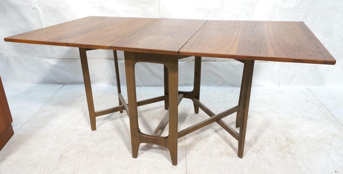American Modern Walnut Drop Side Dining Table. Th - 2