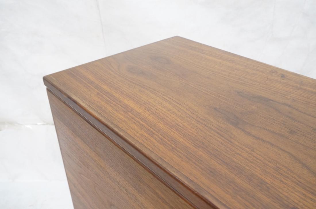 American Modern Walnut Drop Side Dining Table. Th - 3