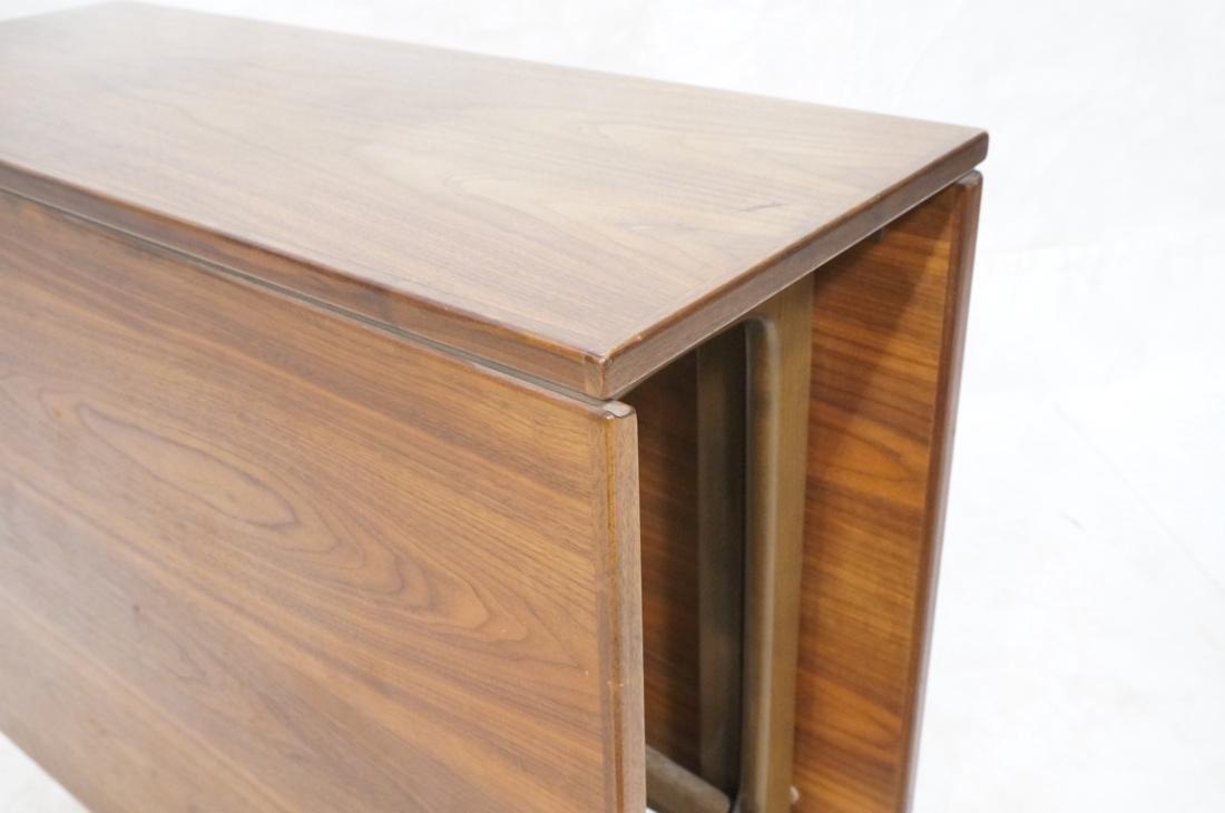 American Modern Walnut Drop Side Dining Table. Th - 4