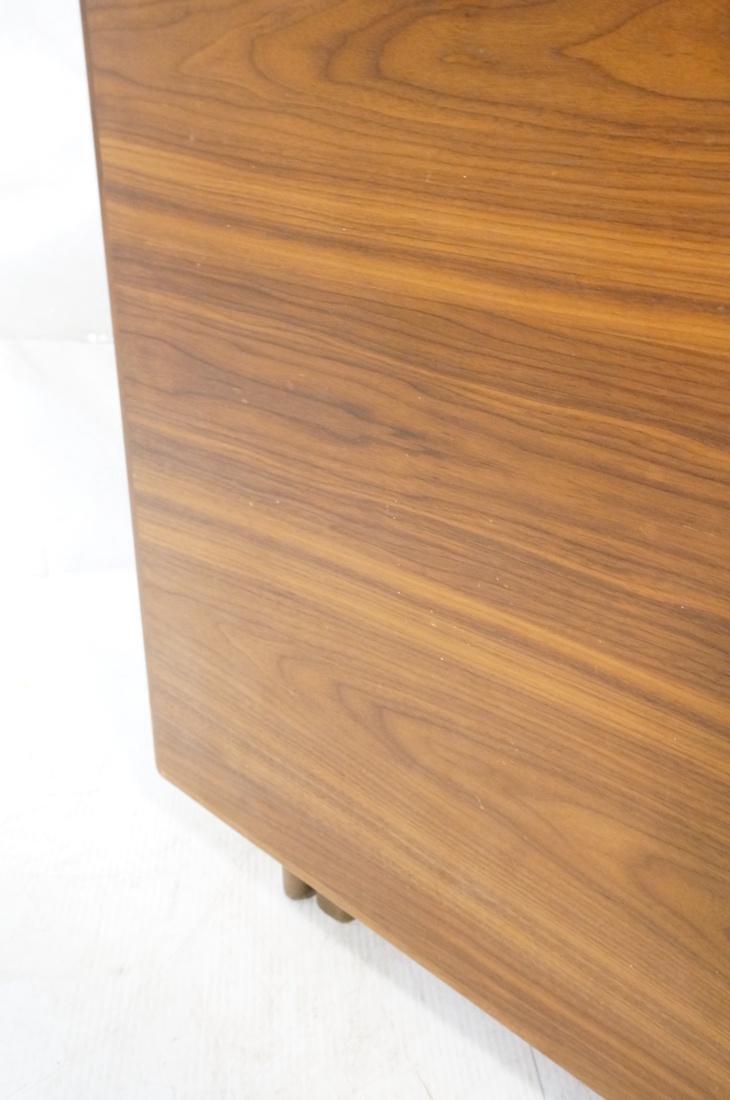 American Modern Walnut Drop Side Dining Table. Th - 6