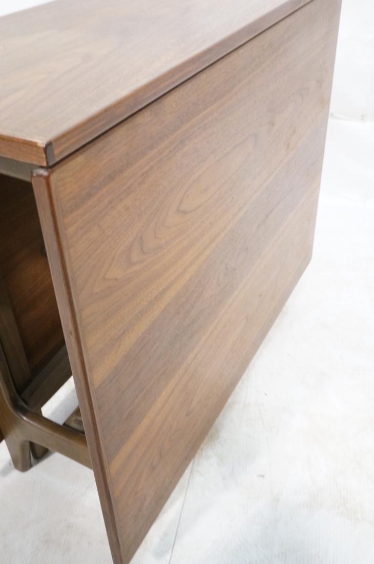 American Modern Walnut Drop Side Dining Table. Th - 7