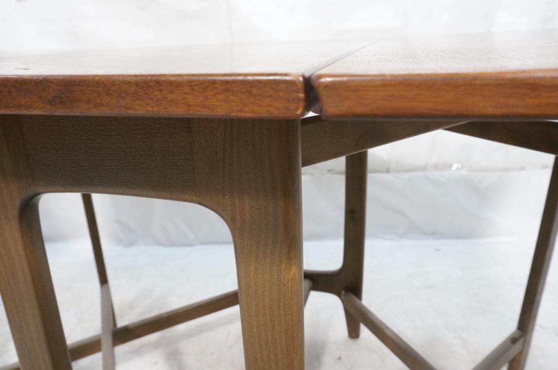 American Modern Walnut Drop Side Dining Table. Th - 8
