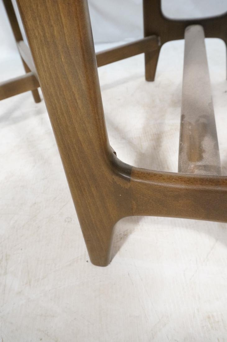 American Modern Walnut Drop Side Dining Table. Th - 9
