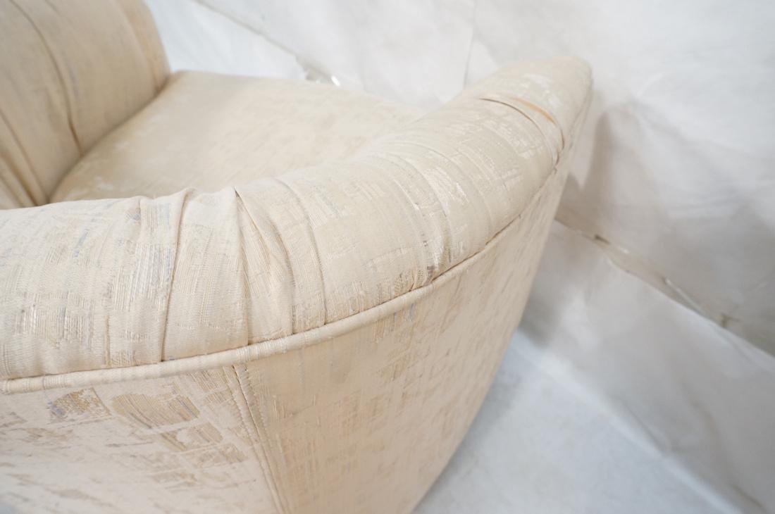 Pr Modernist Barrel Back Swivel Lounge Chairs. Pa - 10