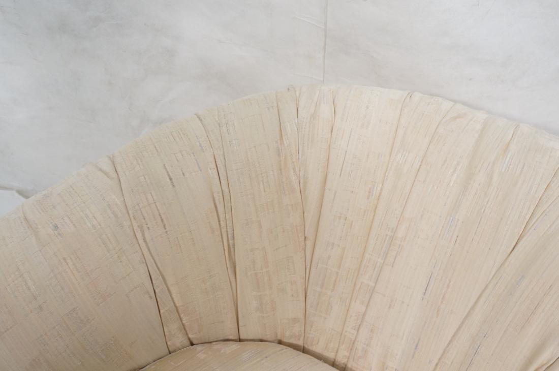 Pr Modernist Barrel Back Swivel Lounge Chairs. Pa - 4