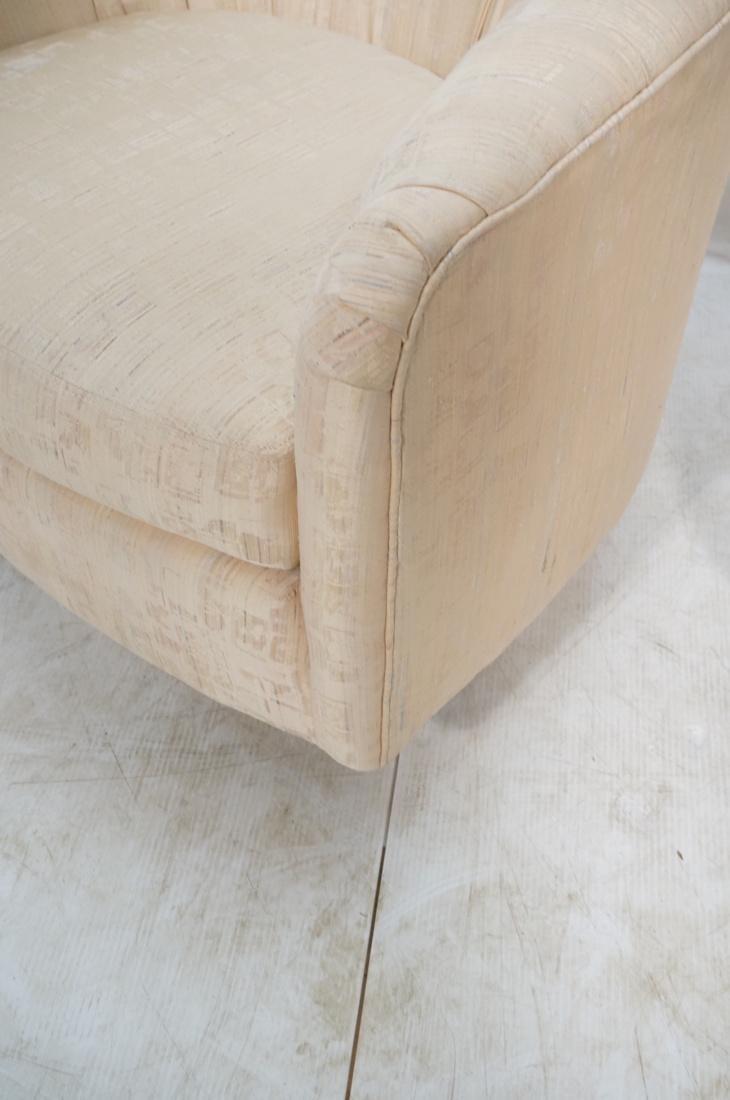 Pr Modernist Barrel Back Swivel Lounge Chairs. Pa - 5