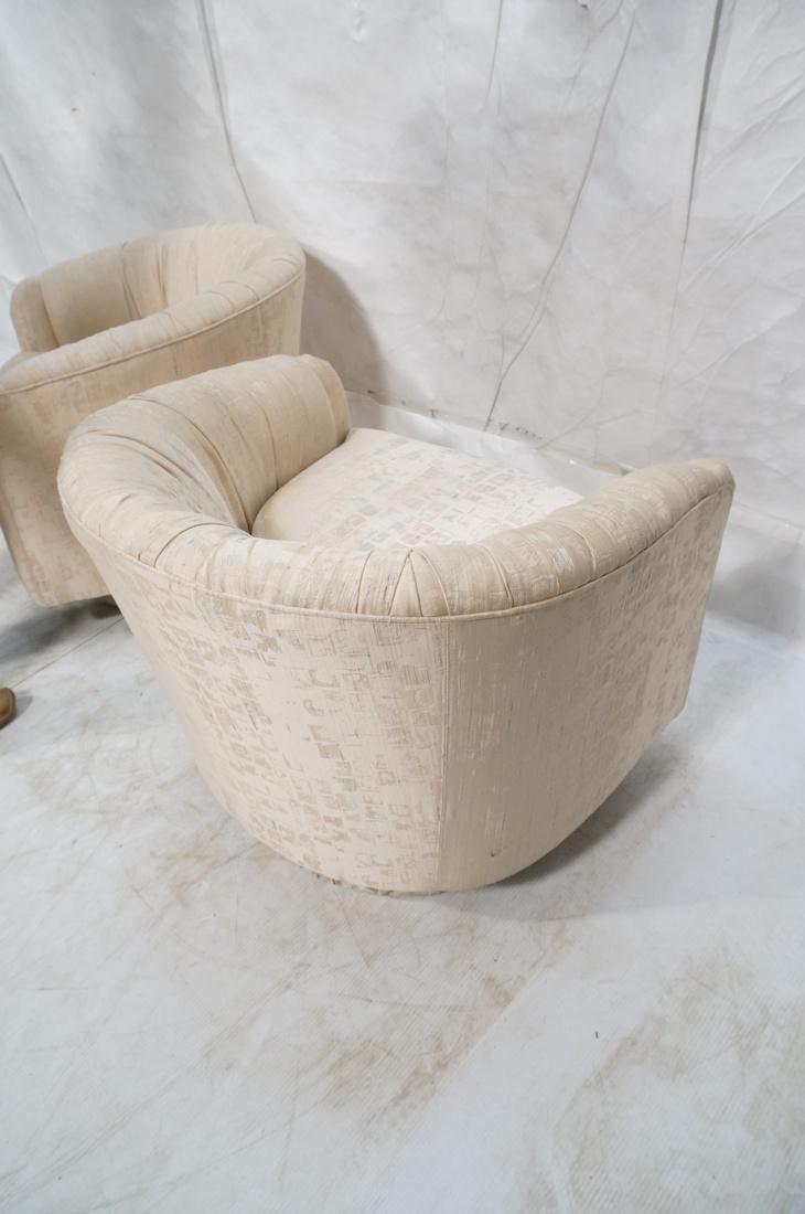 Pr Modernist Barrel Back Swivel Lounge Chairs. Pa - 8