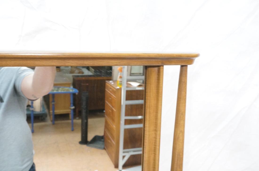American Modern Walnut Low Chest & Mirror. Six Dr - 5