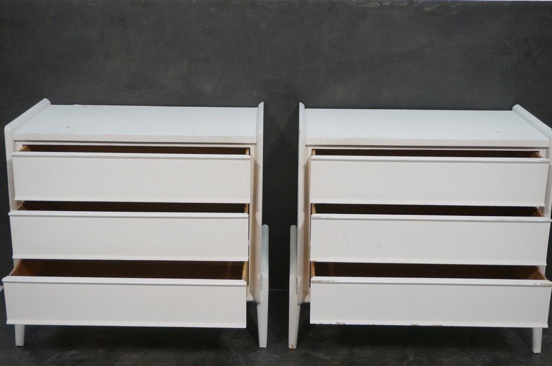 Pr White Painted Bachelor's Chest Dressers. Three - 2