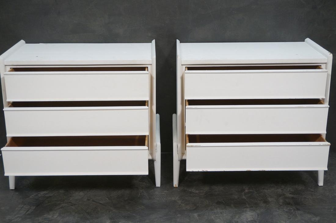 Pr White Painted Bachelor's Chest Dressers. Three - 3