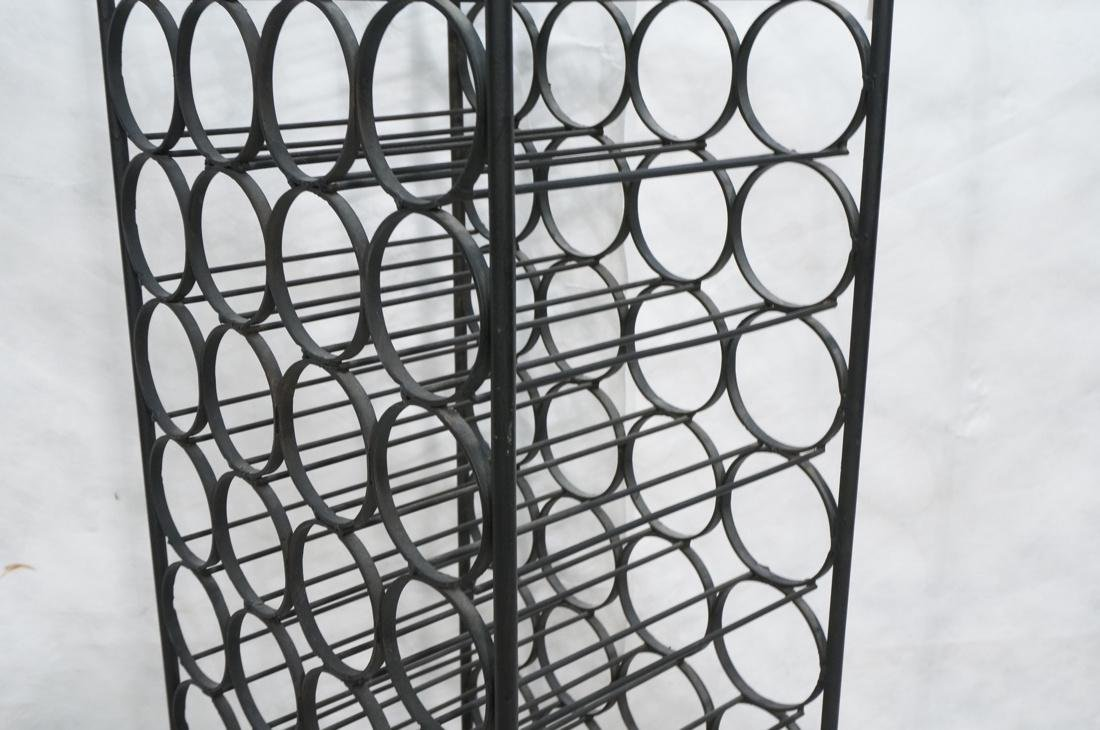 Tall Black Iron Wine Rack. Floor Model. Arched to - 3