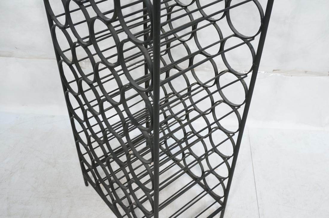 Tall Black Iron Wine Rack. Floor Model. Arched to - 4