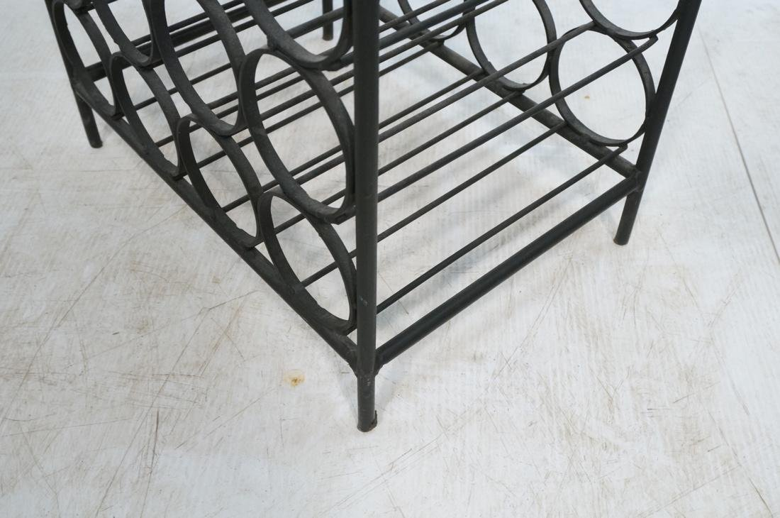 Tall Black Iron Wine Rack. Floor Model. Arched to - 5