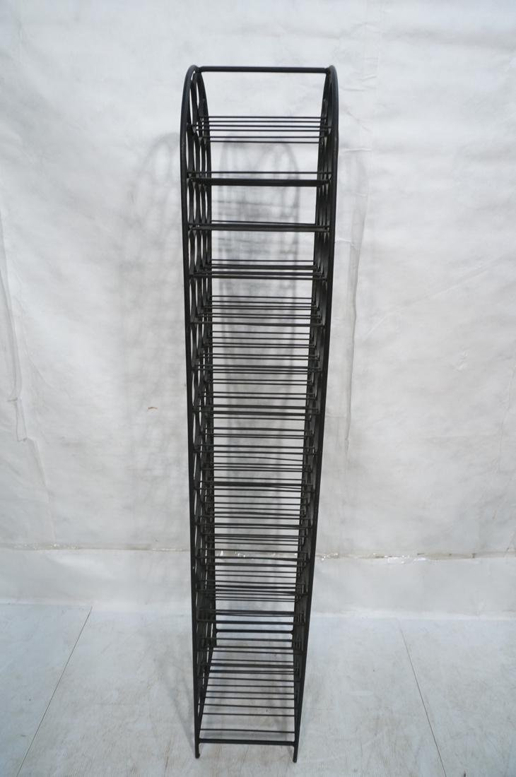 Tall Black Iron Wine Rack. Floor Model. Arched to - 6