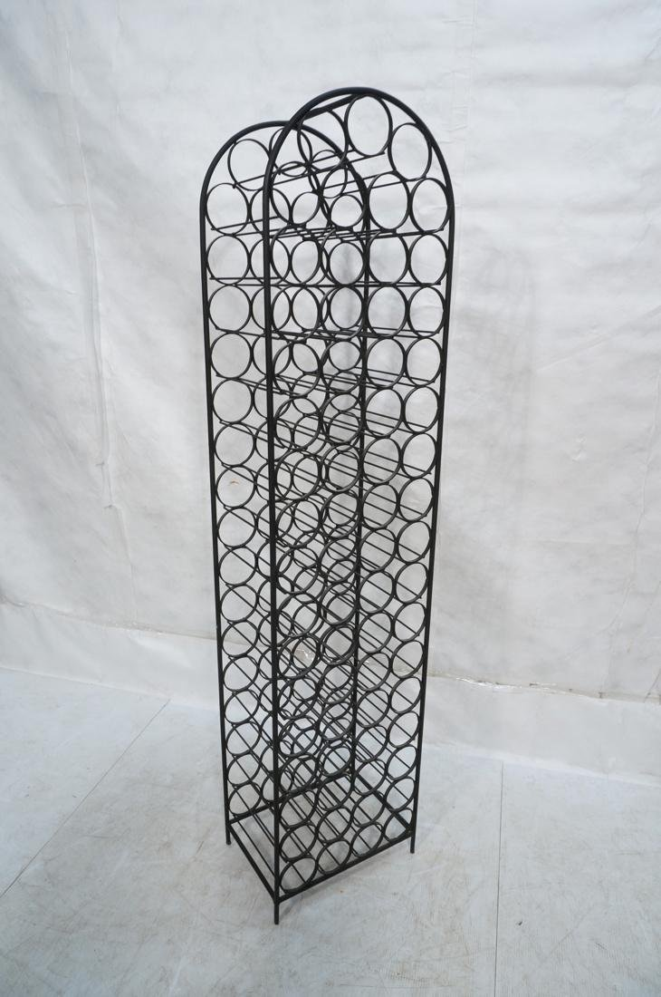 Tall Black Iron Wine Rack. Floor Model. Arched to - 7