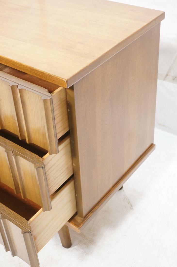 UNITED Nine Drawer Curved Front Walnut Dresser Cr - 3