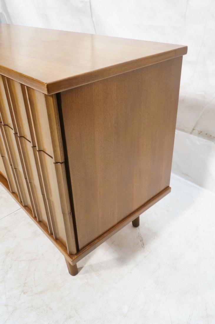 UNITED Nine Drawer Curved Front Walnut Dresser Cr - 5