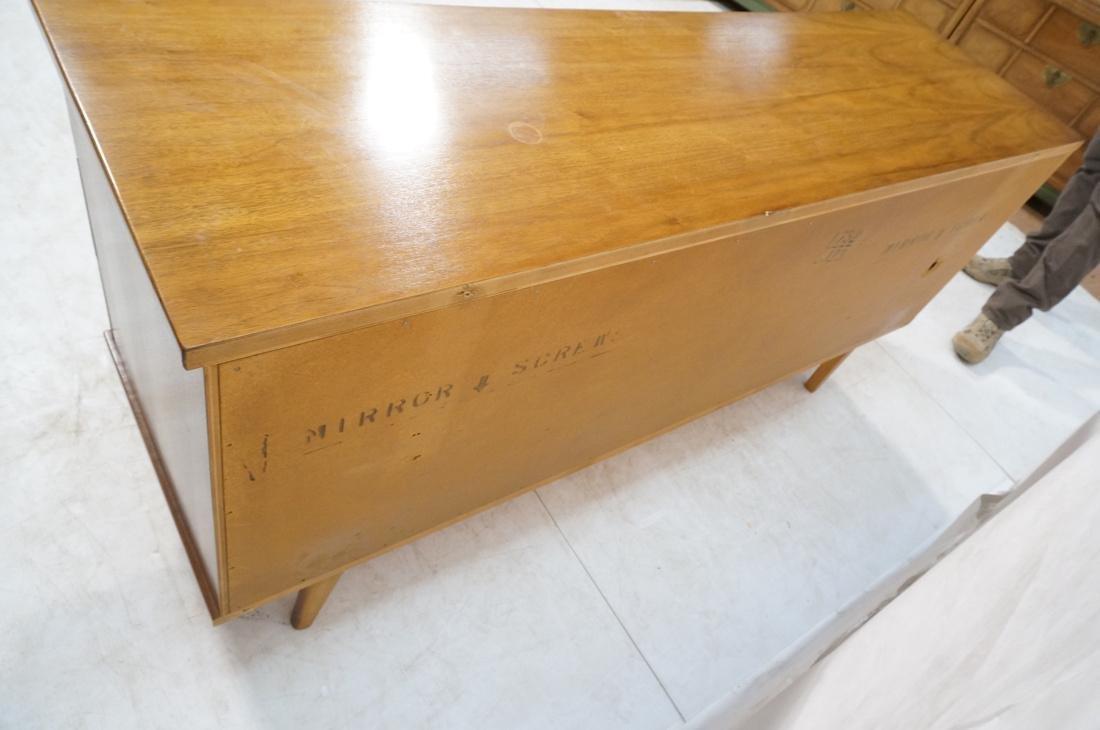 UNITED Nine Drawer Curved Front Walnut Dresser Cr - 8