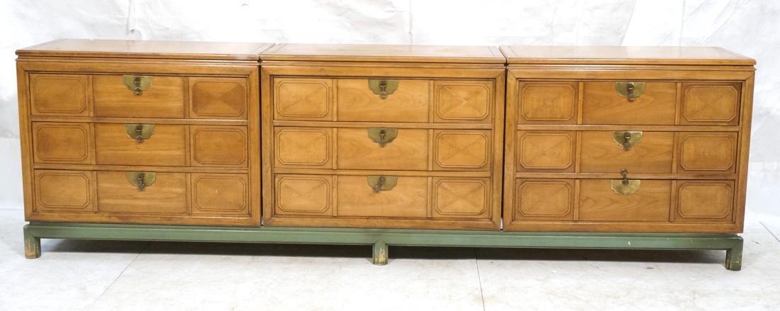 TAMERLANE Triple Chest Cabinets on Single Long ba