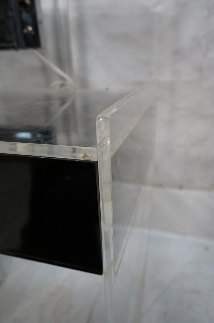 Black & Clear Lucite Vanity with light up Mirror. - 7