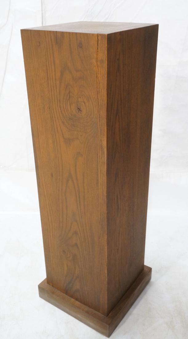 Heavy Square Solid Oak Display Pedestal.