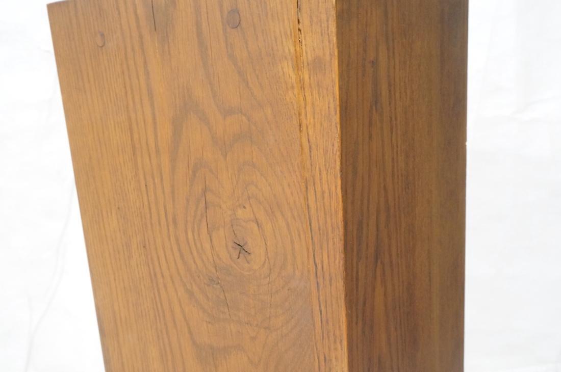 Heavy Square Solid Oak Display Pedestal. - 3