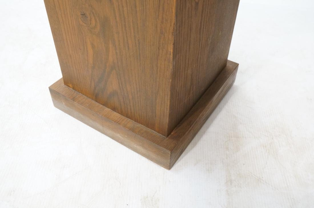 Heavy Square Solid Oak Display Pedestal. - 4