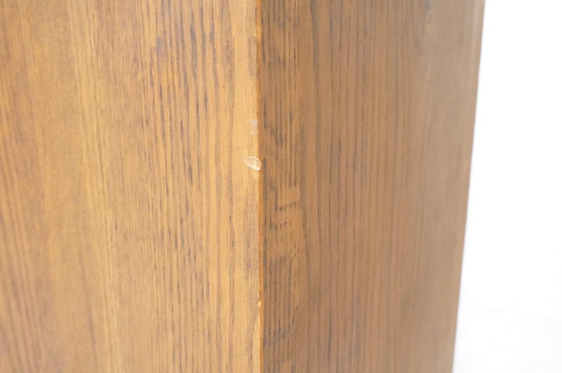 Heavy Square Solid Oak Display Pedestal. - 5