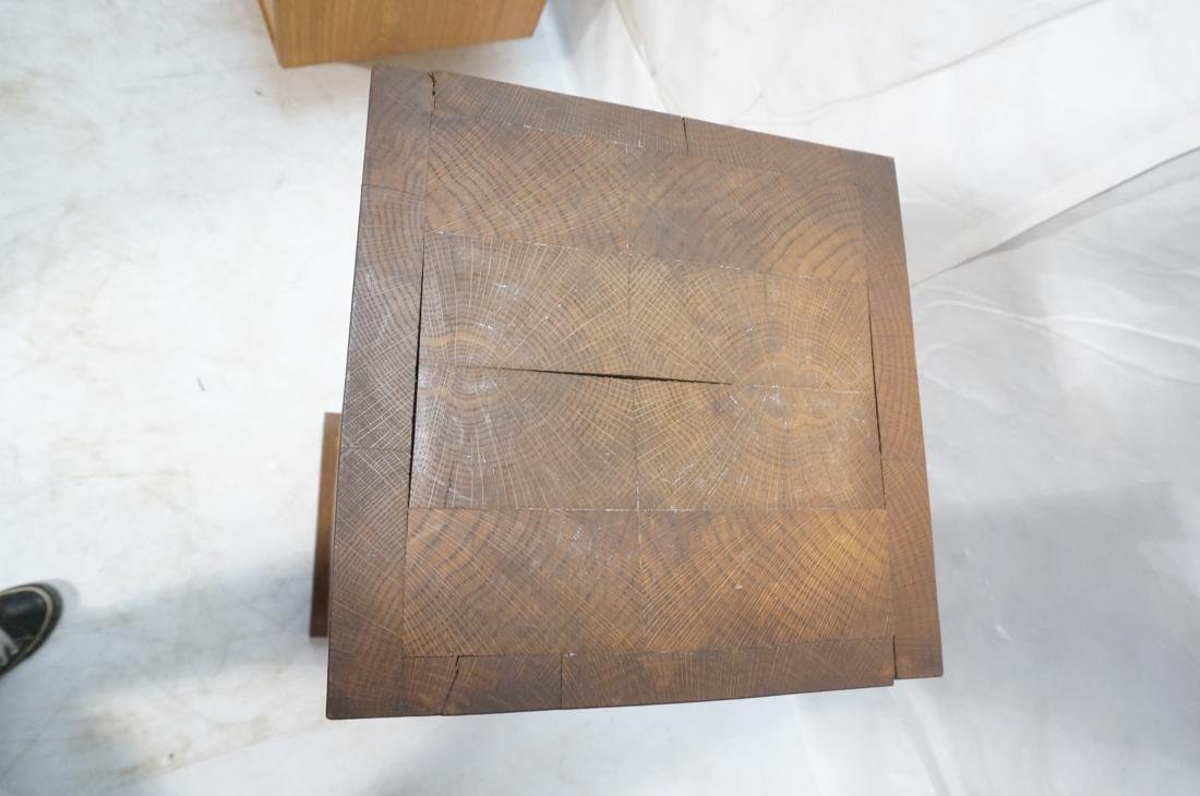 Heavy Square Solid Oak Display Pedestal. - 6