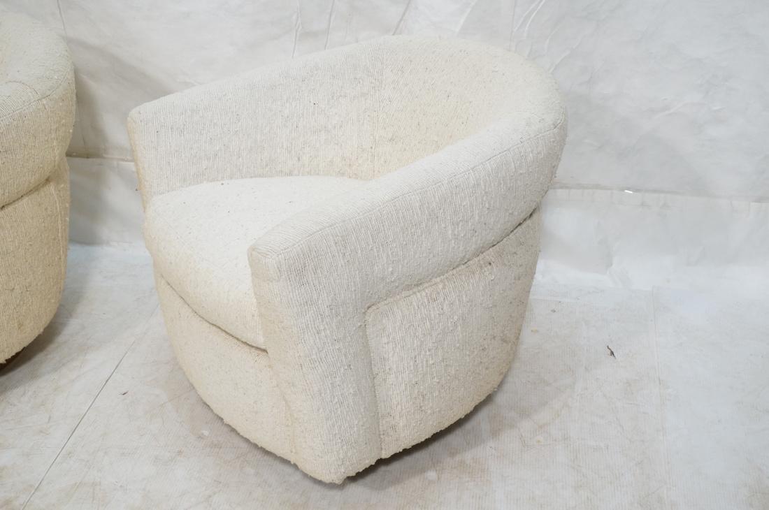 Pr MILO BAUGHMAN Barrel Back Lounge Chairs. THAYE - 2