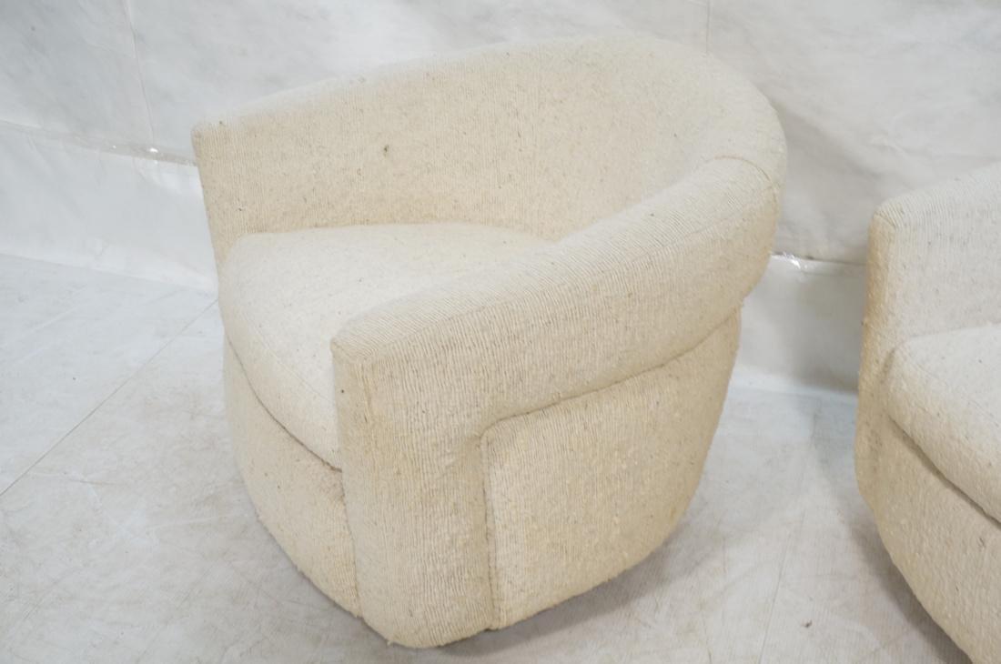 Pr MILO BAUGHMAN Barrel Back Lounge Chairs. THAYE - 3