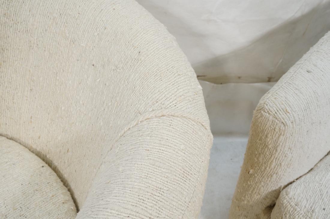 Pr MILO BAUGHMAN Barrel Back Lounge Chairs. THAYE - 5