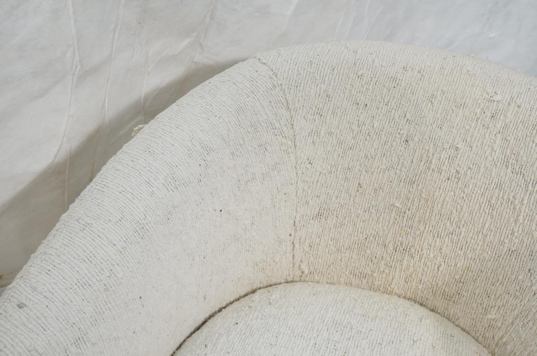 Pr MILO BAUGHMAN Barrel Back Lounge Chairs. THAYE - 6