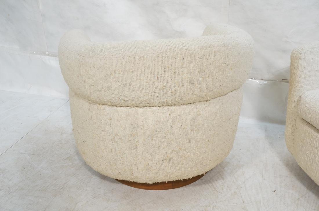 Pr MILO BAUGHMAN Barrel Back Lounge Chairs. THAYE - 8