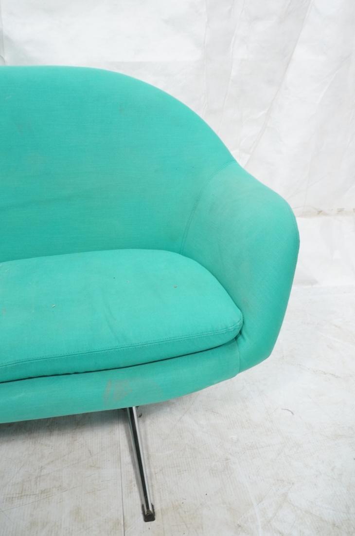 OVERMAN Modern Green Upholstered Love Seat. Sofa - 2