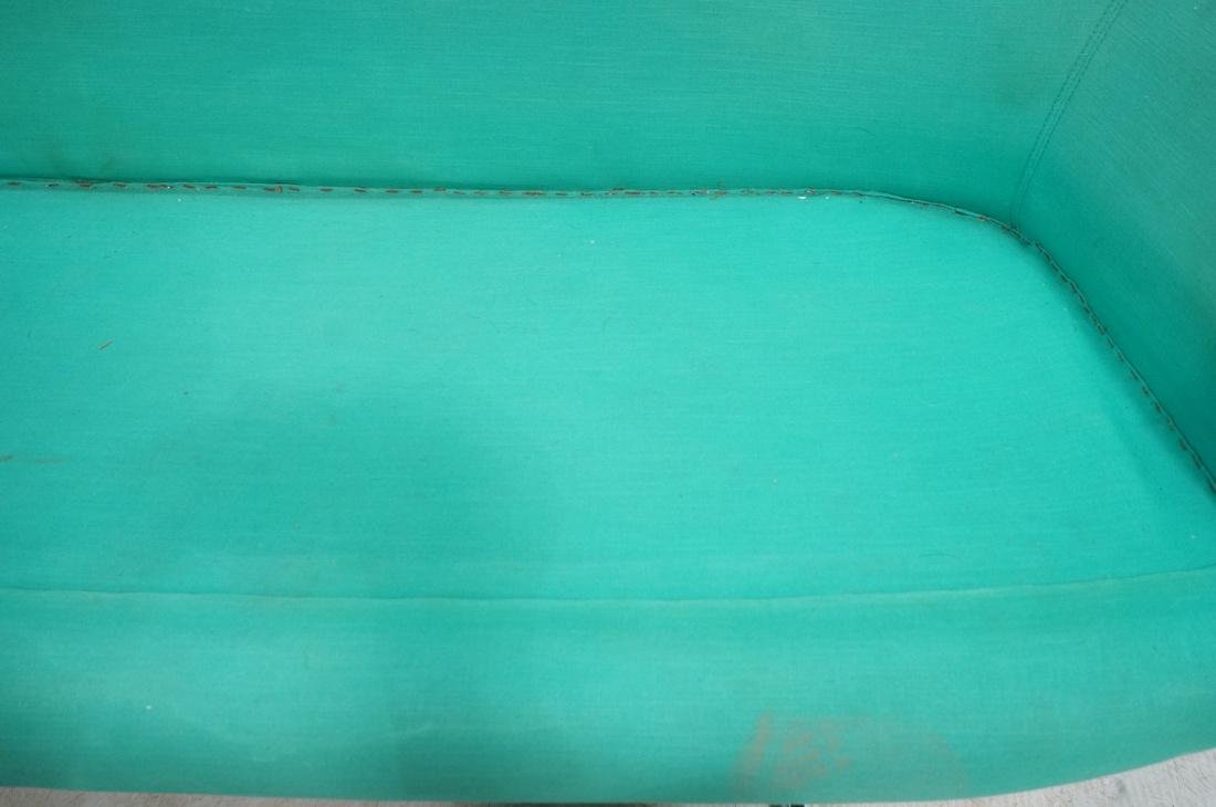 OVERMAN Modern Green Upholstered Love Seat. Sofa - 7