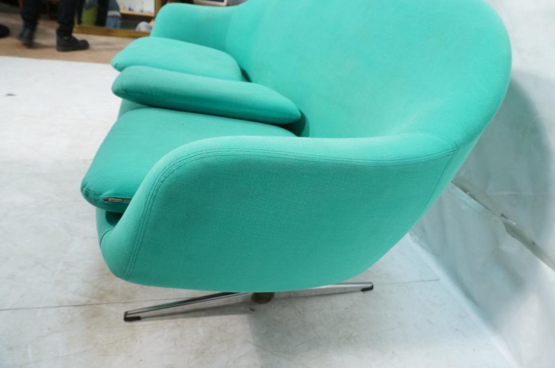 OVERMAN Modern Green Upholstered Love Seat. Sofa - 8