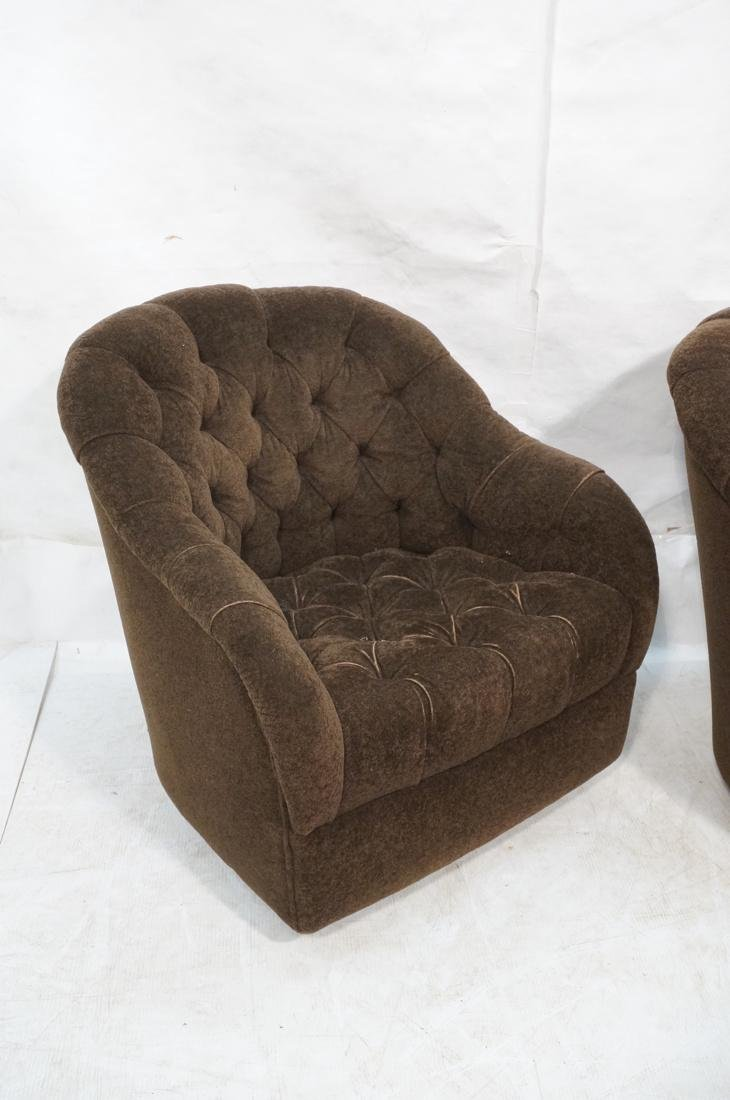 Pr WARD BENNETT Designs Brown Lounge Chairs. Barr - 2