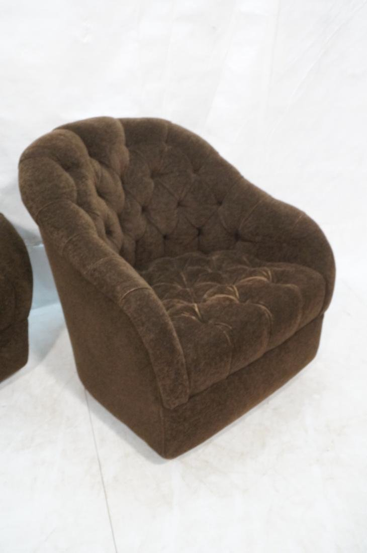Pr WARD BENNETT Designs Brown Lounge Chairs. Barr - 3
